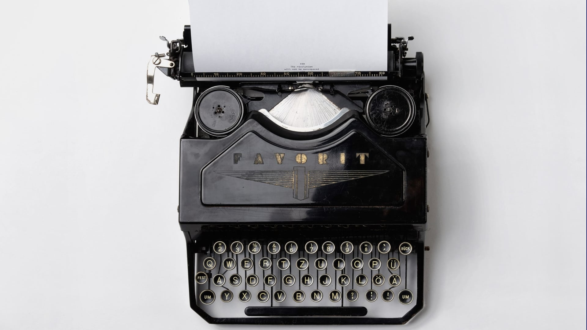 Covering Letter - Typwriter